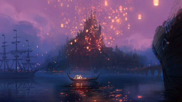 Rapunzel boat