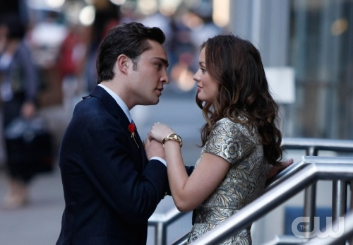 """Reversals of Fortune"" Pictured: Ed Westwick as Chuck, Leighton Meester as Blair Photo Credit: Giovanni Rufino / The CW"